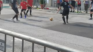 Street soccer!