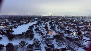 February 2021 Evening Snow Flight in DFW
