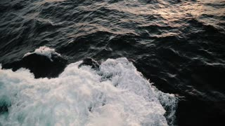 Waves crashing together