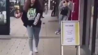 hilarious dinosaur prank Girls