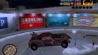 GTA 3 - stunt jumps on car, using 'CORNERSLIKEMAD' cheat