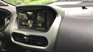 Double Din Stereo Trim for i-Miev