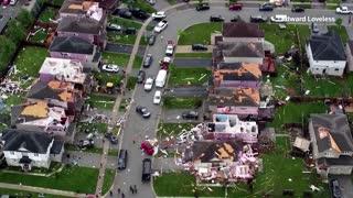 Tornado rips through Canadian town