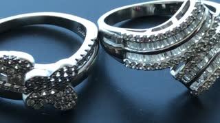 2 diamonds ring set beautiful design amazing
