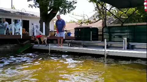 Tucker jumping