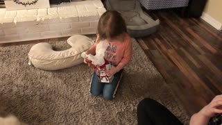 Little girl not happy with the gender reveal outcome