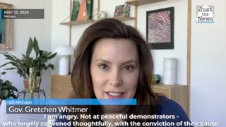 Gov. Gretchen Whitmer addresses the rioters and peaceful protestors.
