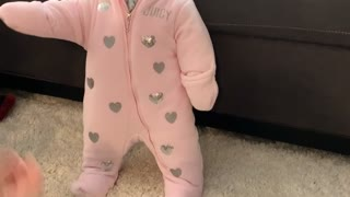 Snowsuit Stops Baby From Walking