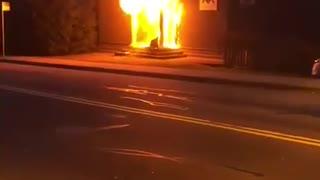 Masonic Lodge Burning - #2