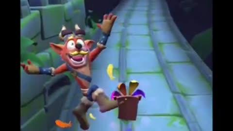 Frosty Uka Uka Battle Run Gameplay On Road To Ruin - Crash Bandicoot: On The Run!