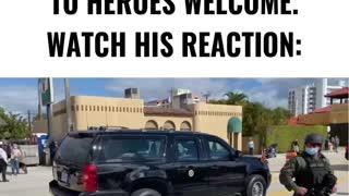 Trump Arrives in FLORIDA