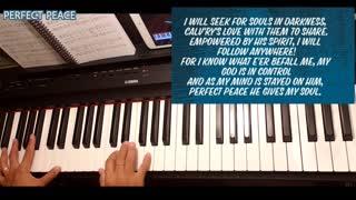 Perfect Peace Piano with lyrics