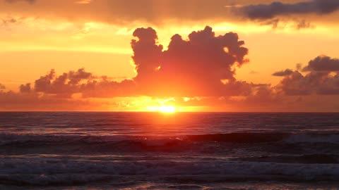 Amazing sunset of all