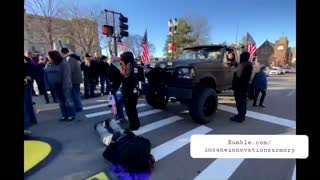 Nerf Guns In Tow Antifa Blocks Traffic In Lansing, MI