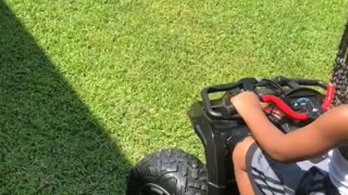First Time on a Four Wheeler