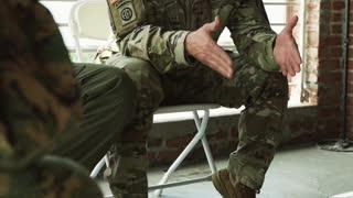 Emotional Army Soldier