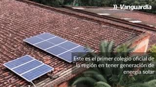 Colegio de Floridablanca, primero en el área con sistema fotovoltaico