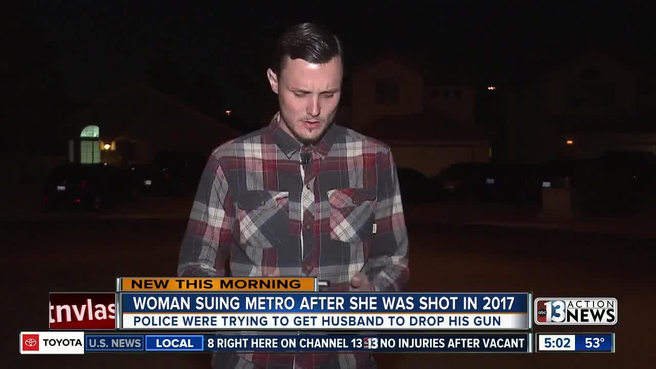 Woman sues Las Vegas police