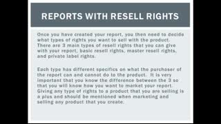 Reports With Resell Rights
