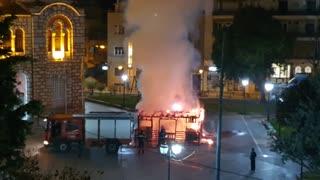 Attack on Christianity: Manger outside Greek church set on Fire
