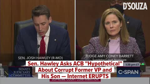 """Sen. Hawley Asks ACB """"Hypothetical"""" About Corrupt Former VP and His Son — Internet ERUPTS"""