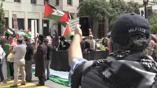 Protestan junto a la Casa Blanca contra la firma de los Tratados de Abraham