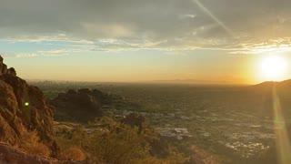 Sunset at CamelBack Mountain in Arizona