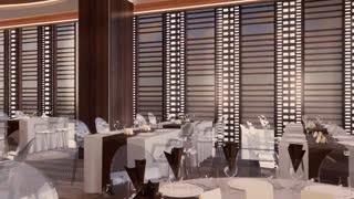 Hotel Restaurant interior design - Organic form of Ceiling in Da Nang, Vietnam