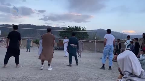 Volleyball tournament in a Taliban-held area.