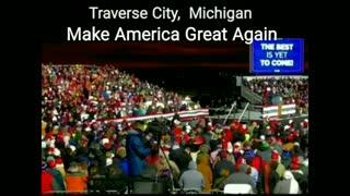 Traverse City MAGA Peaceful Protest President Trump Rally 11-02-2020
