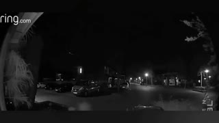 UFO. video from a security camera.