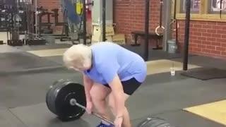 "Great grandma ""lifted 220lb"""