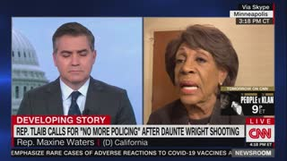 """Lunatic Maxine Waters Shows How Out of Touch Dems Are, Endorses Tlaib's """"No More Police"""" Statement"""