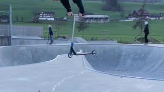 Full Stretch Scooter Flip