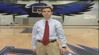 Reporter makes amazing court shot