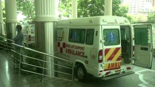 Indian hospital treats COVID patients in ambulances