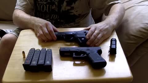 Glock 23 Gen 4 vs Ruger SR9c comparison