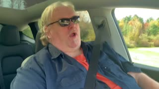 Big Guy in a Tesla Y safety and inspection