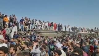 Choque de dos trenes en sur de Egipto