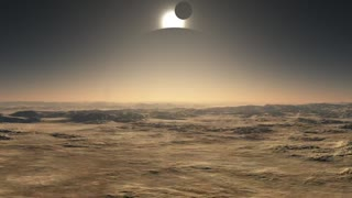 Rocky surface of a strange planet