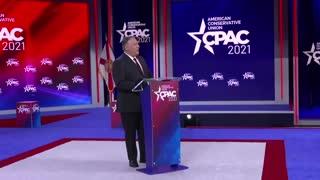 Former Secretary of State Mike Pompeo Slams Biden Administration CPAC Speech 2021