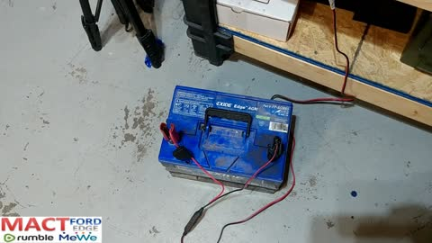 Projects in the garage, battery charging, Testing and laptop
