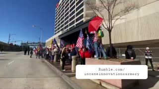 Trump Supporters Gather Outside CNN Headquarters!!