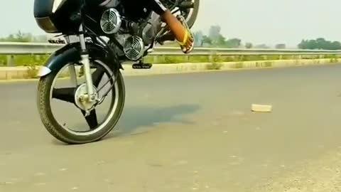 Indian man amazing bike stunt
