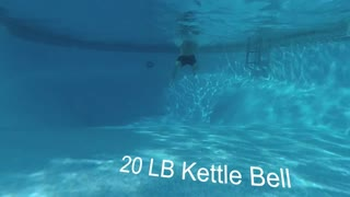 Insane Under Water Kettle Bell Workout!!!