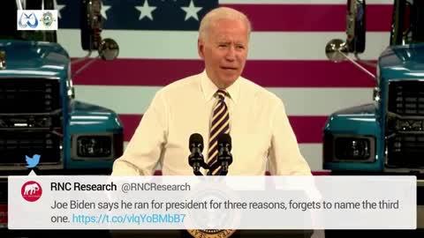 Pennsylvania, Jul. 28: Biden forgot the 'three reasons' why he ran for president.