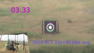 Average Velocity from Target Shooting Video