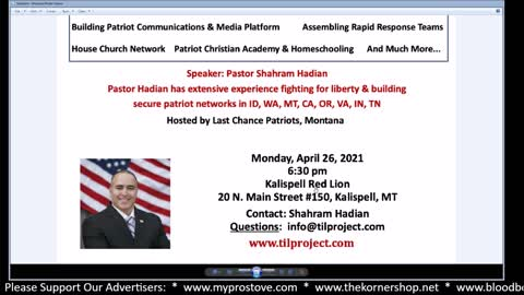 Montana Gazette Radio Live – Pastor Shahram Hadian