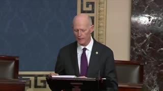 """Sen. Rick Scott Refers To The President As """"King Biden"""" In FIERY Speech"""