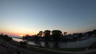 North Beach canal w/Calm Music, Lake Michigan